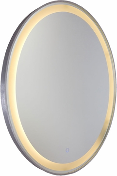 Artcraft AM300 Reflections Contemporary Brushed Aluminum LED Mirror
