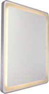 Artcraft AM301 Reflections Modern Brushed Aluminum LED Wall Mirror