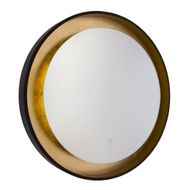 Artcraft AM304 Reflections Contemporary Oil Rubbed Bronze & Gold Leaf LED Wall Mirror