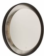 Artcraft AM305 Reflections Modern Oil Rubbed Bronze & Silver Leaf LED Mirror