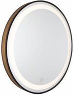Artcraft AM315 Reflections Matte Black and Gold LED Mirror