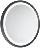 Artcraft AM316 Reflections Matte Black LED Vanity Mirror