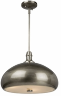 Artcraft CL15041BN Halo Modern Brushed Nickel Drop Ceiling Light Fixture