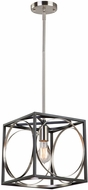 Artcraft CL15090 Corona Modern Black & Polished Nickel Mini Pendant Lighting