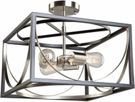 Artcraft CL15093 Corona Contemporary Black & Polished Nickel Ceiling Light Fixture