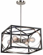 Artcraft CL15094 Corona Modern Black & Polished Nickel Pendant Light