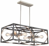 Artcraft CL15098 Corona Contemporary Black & Polished Nickel Island Lighting