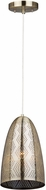 Artcraft CL15100 Starstruck Modern Vintage Brass Mini Lighting Pendant