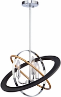 Artcraft CL15113 Cosmic Modern Dark Bronze / Chrome / Satin Brass 18  Hanging Pendant Lighting