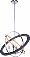 Artcraft CL15114 Cosmic Contemporary Dark Bronze / Chrome / Satin Brass 21  Hanging Pendant Light