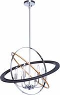Artcraft CL15116 Cosmic Modern Dark Bronze / Chrome / Satin Brass 24  Pendant Hanging Light
