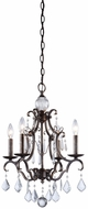 Artcraft CL1574DB Vintage Distressed Bronze Mini Hanging Chandelier