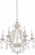 Artcraft CL1576AW Vintage Antique White Chandelier Light
