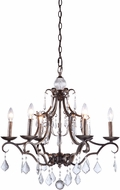 Artcraft CL1576DB Vintage Dark Bronze Ceiling Chandelier