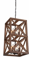 Artcraft JA14008 Collingwood Modern Walnut Hanging Lamp