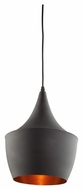 Artcraft JA801 Connecticut Modern Matt Black Finish 9  Wide Hanging Lamp