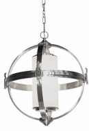 Artcraft SC13022BN Pharmacy Contemporary Brushed Nickel 20  Hanging Light Fixture