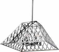 Artcraft SC13066CH Jardin Contemporary Chrome 20  Ceiling Pendant Light