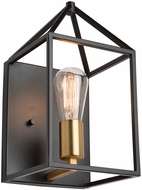 Artcraft SC13070 Twilight Modern Matte Black & Harvest Brass Light Sconce