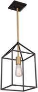 Artcraft SC13071 Twilight Contemporary Matte Black & Harvest Brass Mini Hanging Pendant Light