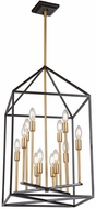 Artcraft SC13072 Twilight Modern Matte Black & Harvest Brass 22  Entryway Light Fixture