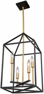 Artcraft SC13074 Twilight Contemporary Matte Black & Harvest Brass 12  Foyer Lighting