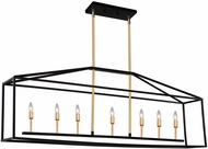 Artcraft SC13077 Twilight Modern Matte Black & Harvest Brass Kitchen Island Light Fixture