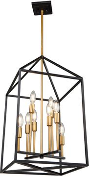Artcraft SC13078 Twilight Contemporary Matte Black & Harvest Brass 18  Foyer Light Fixture