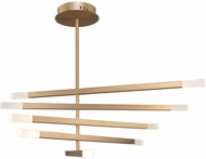 Artcraft SC13090BG Twig Modern Brushed Gold LED Lighting Chandelier