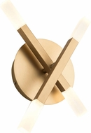 Artcraft SC13094BG Twig Contemporary Brushed Gold LED Lighting Sconce