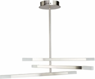 Artcraft SC13096SN Twig Contemporary Satin Nickel LED Chandelier Lamp