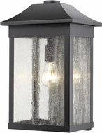 Artcraft SC13102BK Morgan Black Outdoor Wall Lamp