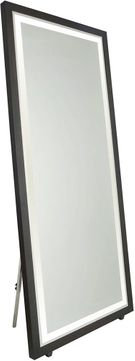 Artcraft SC13108 Valet Contemporary Matte Black LED Bath Mirror
