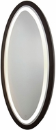 Artcraft SC13110 Valet Contemporary Matte Black LED Bathroom Mirror