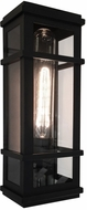 Artcraft SC13111BK Granger Square Black LED Exterior 16  Wall Light Sconce