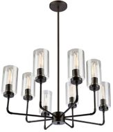 Artcraft SC13138OB Ray Traditional Oil Rubbed Bronze Hanging Chandelier
