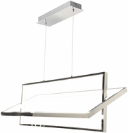 Artcraft SC13141CH Linear Contemporary Chrome LED Island Lighting
