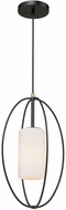 Artcraft SC13171 Dewdrop Contemporary Black Mini Hanging Light Fixture