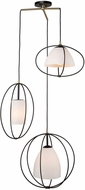 Artcraft SC13173 Dewdrop Contemporary Black Multi Drop Ceiling Lighting