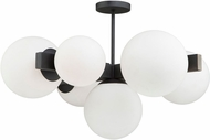 Artcraft SC13222BK Moonglow Modern Matte Black Flush Mount Lighting Fixture