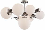 Artcraft SC13222PN Moonglow Contemporary Polished Nickel Flush Ceiling Light Fixture