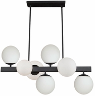 Artcraft SC13223BK Moonglow Modern Matte Black Kitchen Island Lighting
