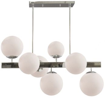 Artcraft SC13223PN Moonglow Contemporary Polished Nickel Kitchen Island Light