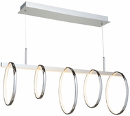 Artcraft SC13265CH Trapeze Contemporary Chrome LED Kitchen Island Lighting