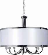 Artcraft SC438WH Madison Contemporary White Drum Hanging Light