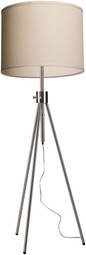 Artcraft SC589OM Mercer Street Modern Brushed Nickel Floor Lighting