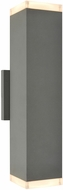Avenue Lighting AV9893-SLV Avenue Outdoor Modern Silver LED Exterior 12  Wall Light Sconce