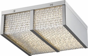 Avenue Lighting HF1123-BN Cermack St. Contemporary Brushed Nickel LED 9.5  Flush Lighting