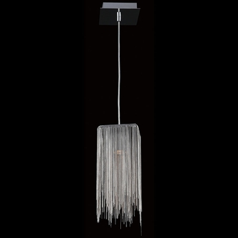 Avenue Lighting HF1204-CH Fountain Ave Modern Chrome Halogen Mini Lighting Pendant