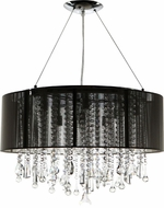 Avenue Lighting HF1500-BLK Beverly Dr. Black Silk String Finish 32  Wide Halogen Drum Hanging Light